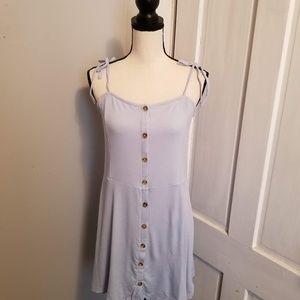 Topshop Womens Rib knit Minidress Size 10 Blue New